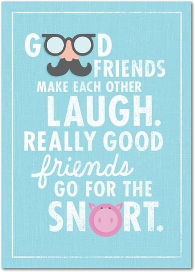 Go for the snort! | Personalized birthday cards from Treat.com #birthday #friendship