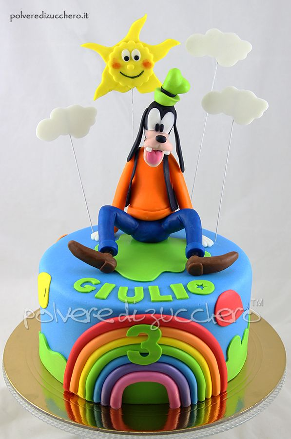 Torta Pippo per il compleanno di un bimbo Goofy cake for the birthday of a child
