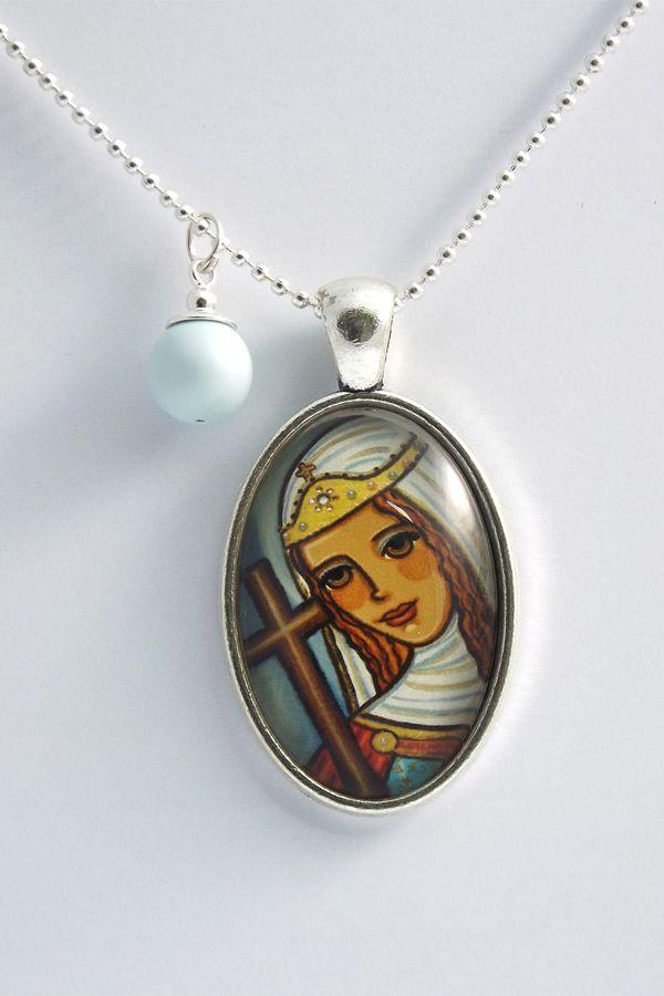 Saint Helena pendant St Helena necklace St Helena jewelry St Helen