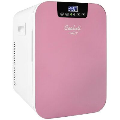 Cooluli Concord 0.7 cu. ft. Countertop Outdoor Rated Mini Fridge Finish/Color: Pink/White