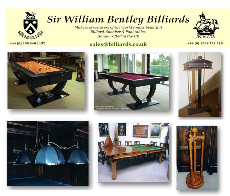 At Sir William Bentley Billiards, We Have A Wide Assortment Of Creatively  Crafted And Designed Pool Tables For Sale. We Also Provide General Tables  With ...