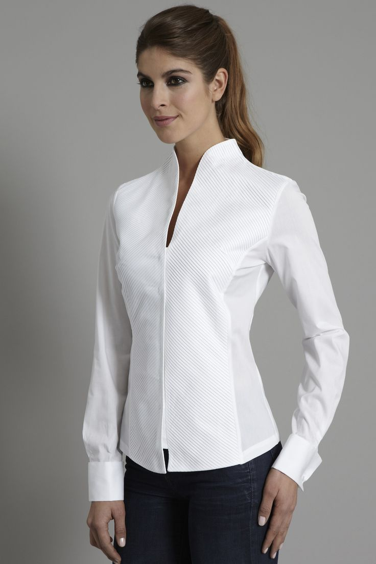 Penelope a devastatingly modern sculptural shirt http for Women s broadcloth shirts