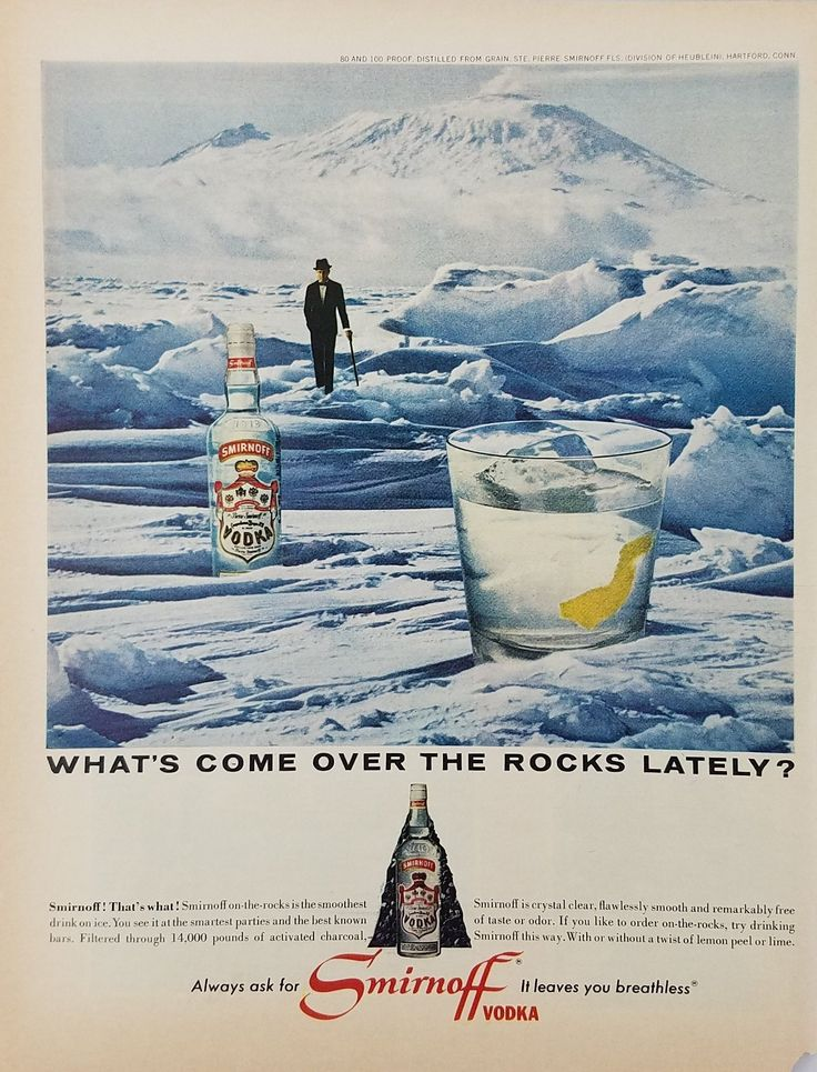 1964 Smirnoff Vodka Vintage Ad - What's Come Over The Rocks Lately