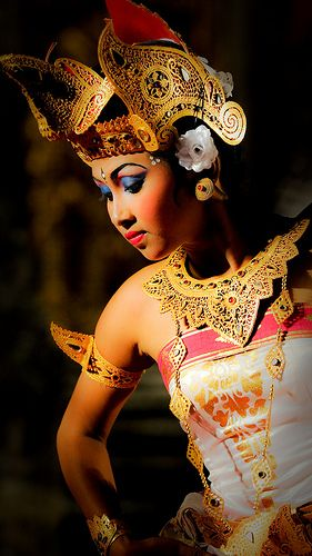 Beautiful Legong Dancer, traditional balinese dance -- Bali, Indonesia.