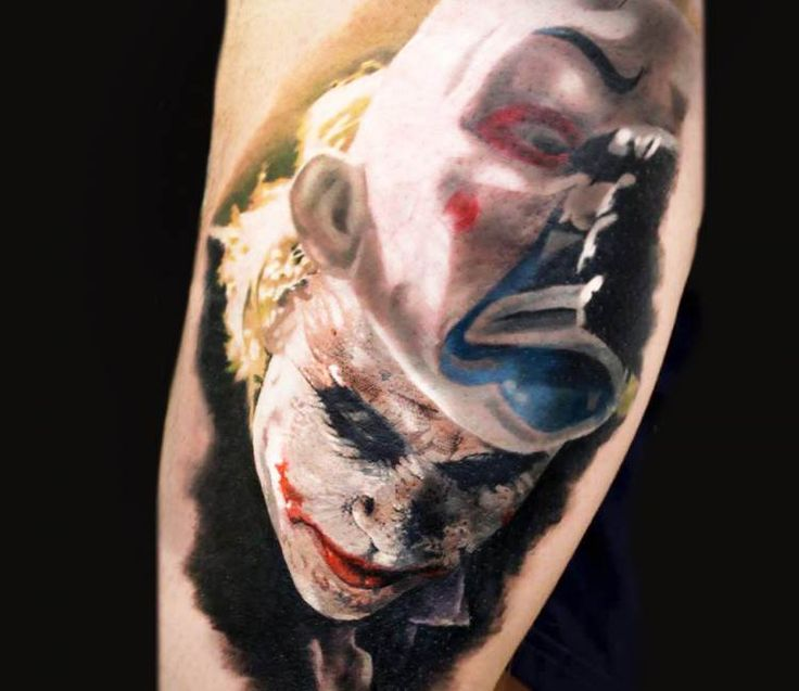 Joker tattoo by Michael Taguet