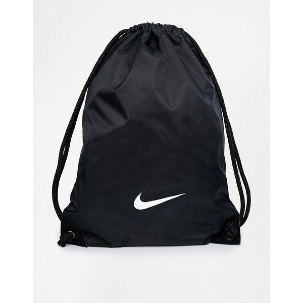 Nike Gymsack in Black ($12) ❤ liked on Polyvore featuring bags, handbags, shoulder bags, black, nike handbags, nike, nike purse, nike shoulder bag and nylon handbags