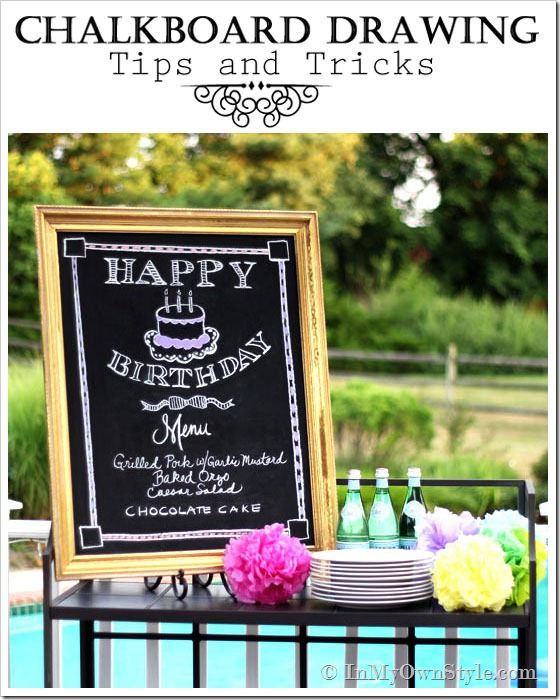 How to Draw on a Chalkboard like an Artist. Make any dinner menu, list or welcome sign look like a professional made it.
