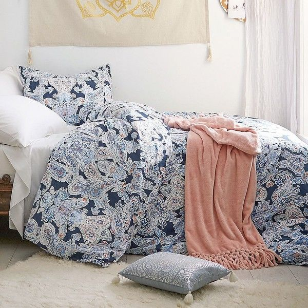 PB Teen Luna Paisley Duvet Cover, Twin, Multi ($79) ❤ liked on Polyvore featuring home, bed & bath, bedding, duvet covers, twin xl bedding, paisley twin bedding, paisley pillow shams, twin bedding and x long twin bedding