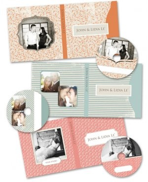 CD Case and Label Templates- Kandid Designs
