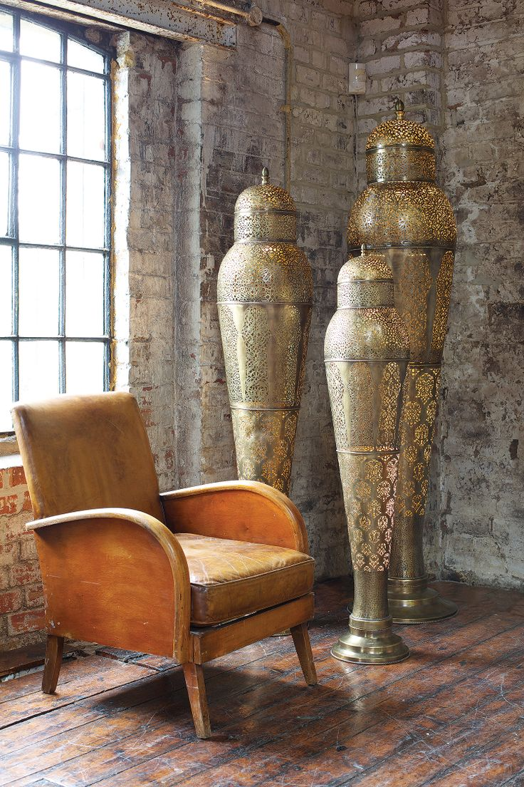 Moroccan decor moroccan lanterns and lamps part 9 - Moroccan Mansour Floor Lamp In Antique Brass 71 Inches Tall