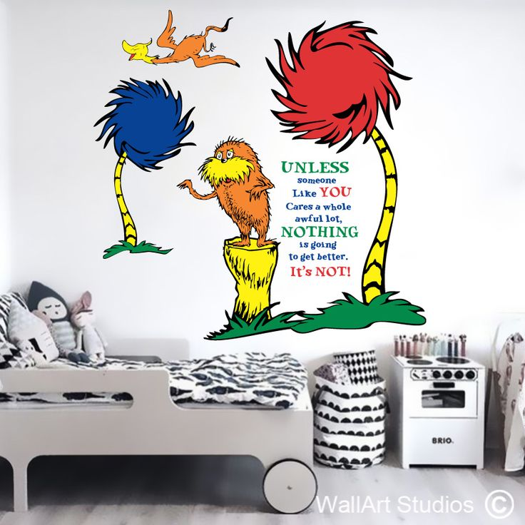 Dr Seuss The Lorax removable wall decals! www.wallartstudios.com Safe, Secure online Store, shipping worldwide