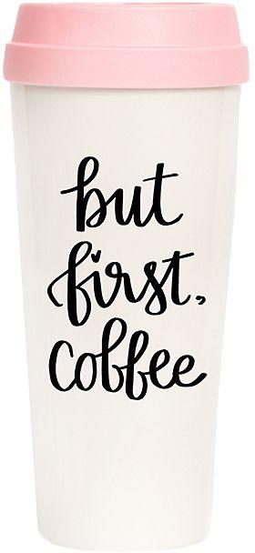 'But First, Coffee' 16-Oz. Travel Mug