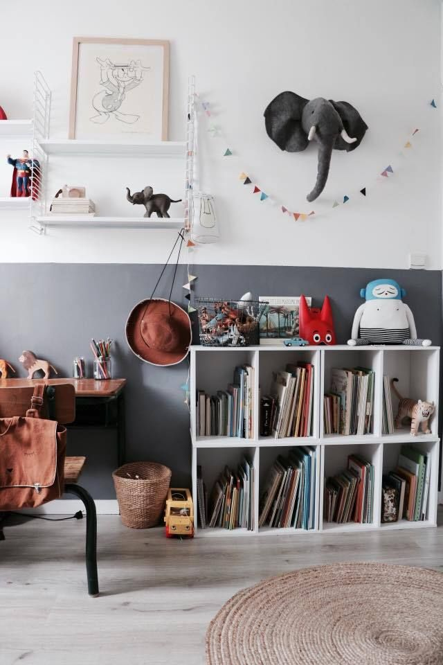 colourful kids room with lots of fun accessories