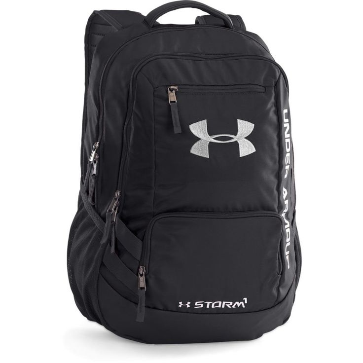"UA Storm technology delivers an element-battling, highly water-resistant finish with a tough, abrasion-resistant bottom panel. more backpack features: - Soft lines laptop sleeve - holds up to 15"" lapt"