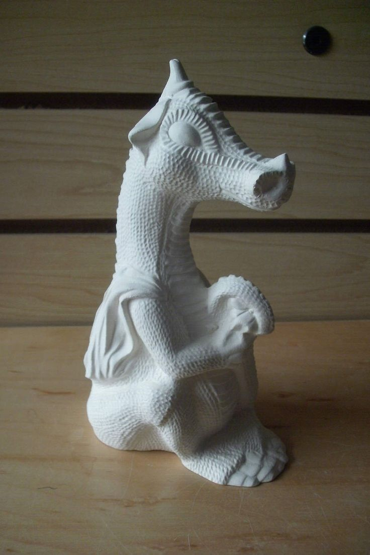 Unpainted Ceramic bisque Baby Dragon Holding tail Ceramic Ready to paint ceramic bisque gifts for him gifts for her DIY ceramic to paint by MapleHillCeramics on Etsy