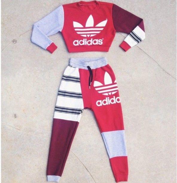 Shirt: adidas, sweatpants, sweatshirt, dope, fashion - Wheretoget