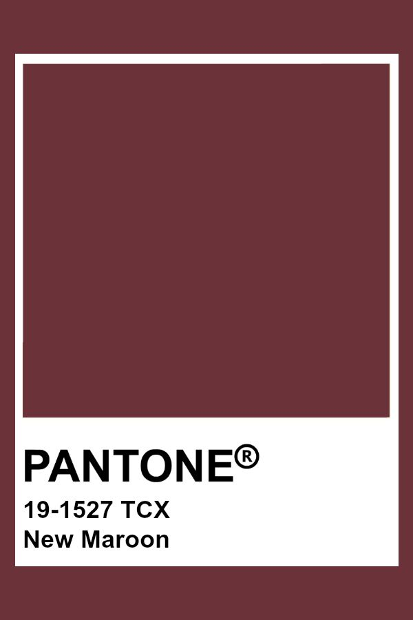 Pantone 19 1527 Tcx New Maroon Pantone Color Maroon In 2020