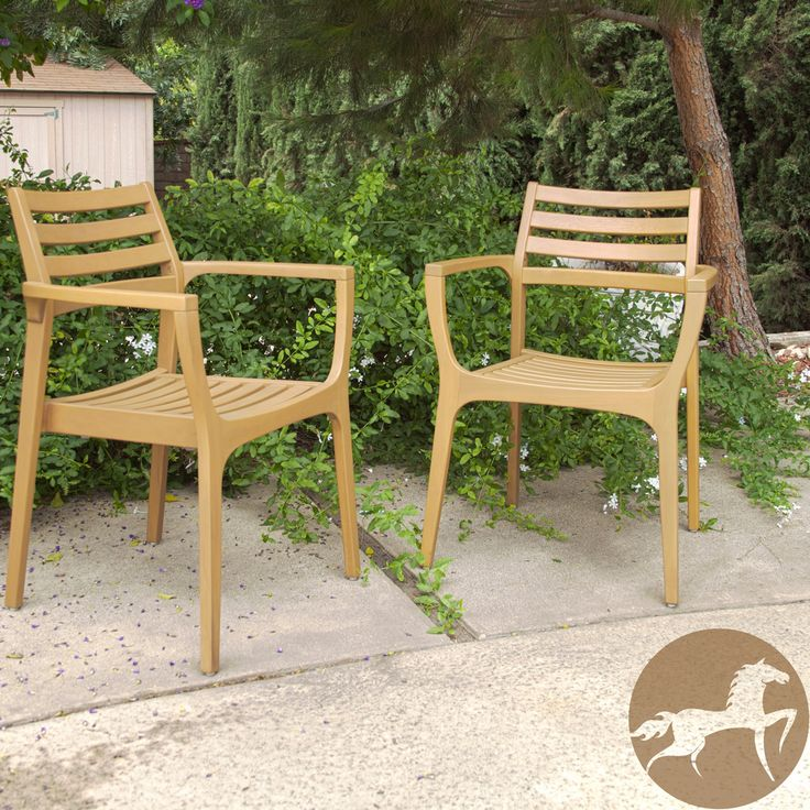 Christopher Knight Home Lombardi Outdoor Eucalyptus Wood Chairs Set Of 2 Overstock Com