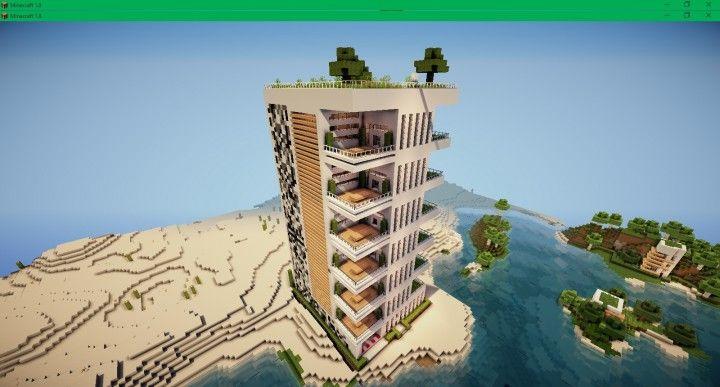 Modern Apartment Building Minecraft modern apartment 2 minecraft building ideas skyscraper tower live