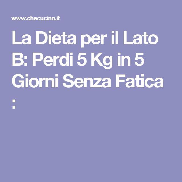 La Dieta per il Lato B: Perdi 5 Kg in 5 Giorni Senza Fatica :