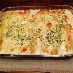 Chicken Manicotti Alfredo Allrecipes.com