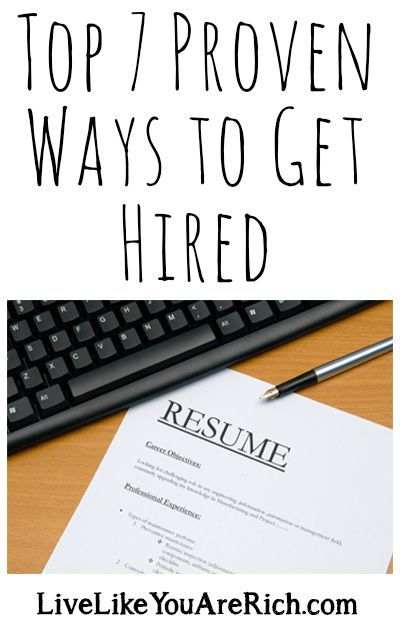 Top 7 Proven Ways to Get Hired - very good (despite the font choice)