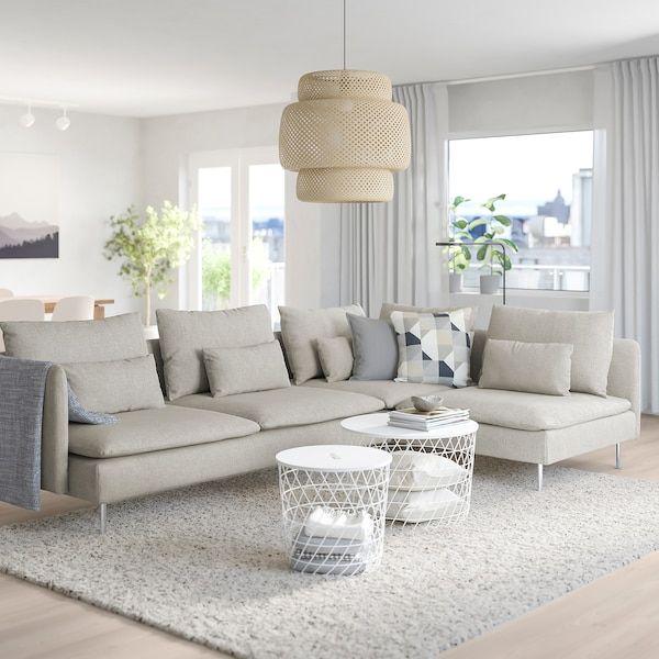Soderhamn Sectional 4 Seat Corner With Open End Viarp Beige