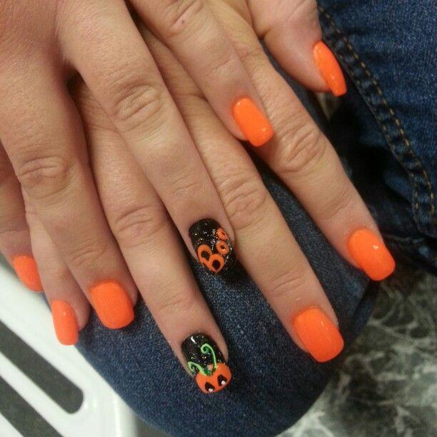 Fall/halloween nails