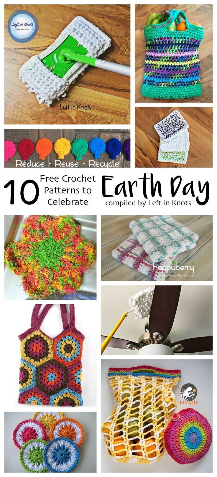 1377 best images about crochet roundup posts on pinterest for Reduce reuse recycle crafts