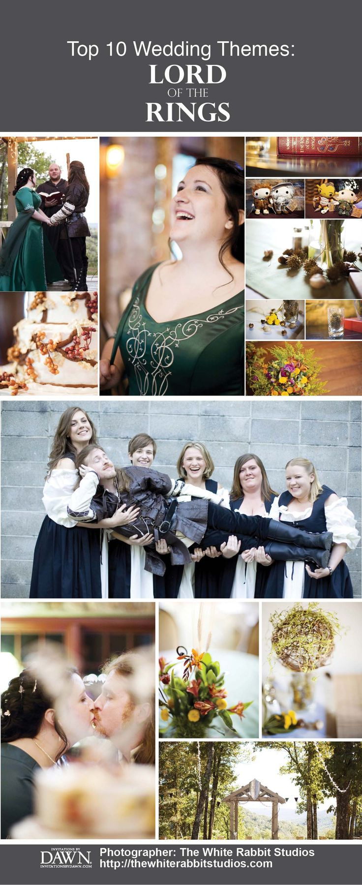 Top 10 Wedding Themes Hobbit WeddingLotr
