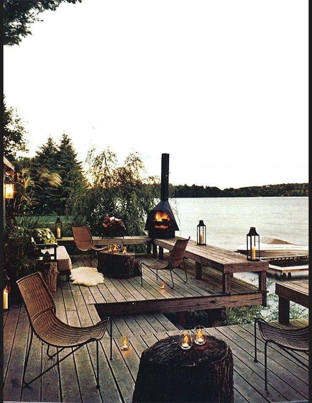 Les plus belles terrasses de Pinterest - Bois et corde