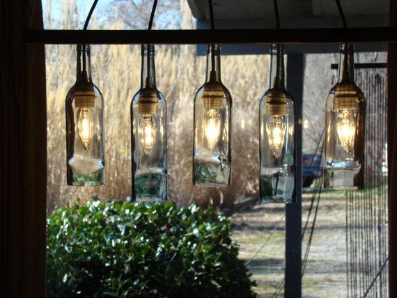Wine Bottle Chandelier By Glow828 On Etsy 12000 This Needs To Be Over My