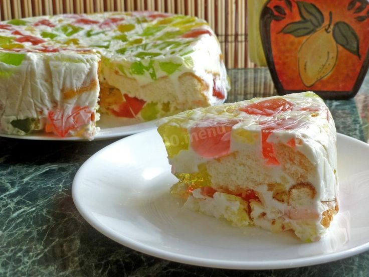 Торт Битое стекло с бисквитом