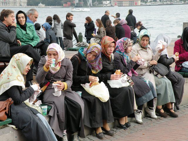 Colourful head scarfs - Istanbul, Turkey