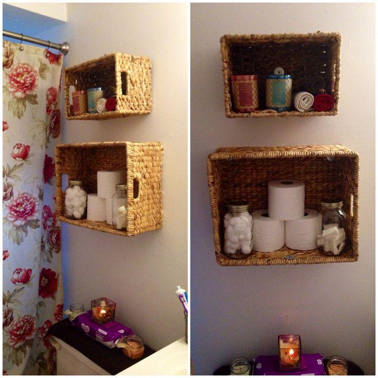 Etonnant Wicker Basket Storage Shelves For The Bathroom | Home Decor | Pinterest |  Shelving, The