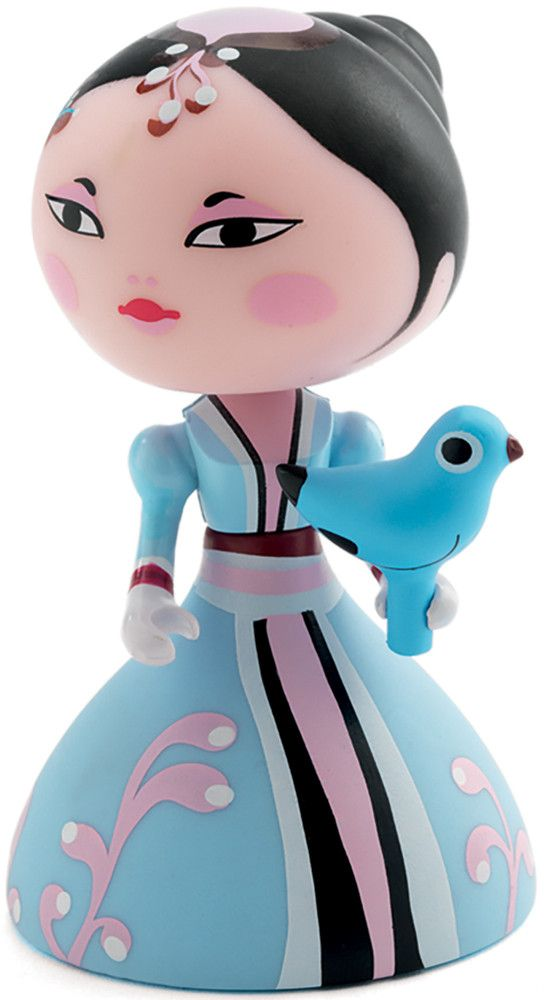 Djeco+Arty+Toys+-+Himeka+-+Djeco+Arty+Toys+Himeka+stands+at+7+cm+high+and+features+a+movable+figure+in+pastel+blue+and+pink+gown+holding+onto+a+pretty+blue+bird.  There+are+four+themed+collections+of+Djeco+Arty+Toys;super+heroes,+pirates,+knights+and+princesses+and+all+are+movable+with+joints.+The+arty+toys+were+inspired+by+the+artistic+artoys+trend,+created+by+contemporary+designers+and+illustrators.
