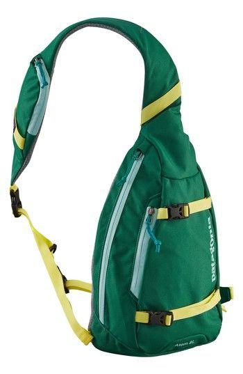 PATAGONIA 'ATOM' SLING BACKPACK - GREEN. #patagonia #bags #backpacks #