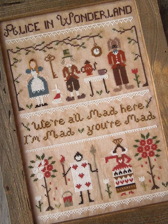 Alice in Wonderland - PDF Digital Cross Stitch Pattern by THE LITTLE STITCHER