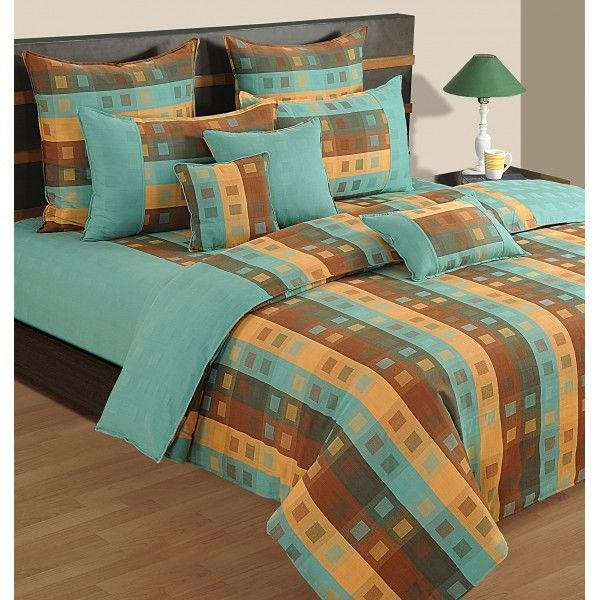 #SWAYAM LIGHT TURQUOISE BED SHEET- #LINEAGOLD #(D.NO.7806)