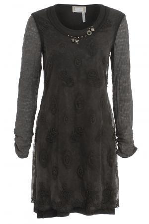 Elisa Cavaletti Embellish Tunic Moka Size: S   Muse Lifestyle