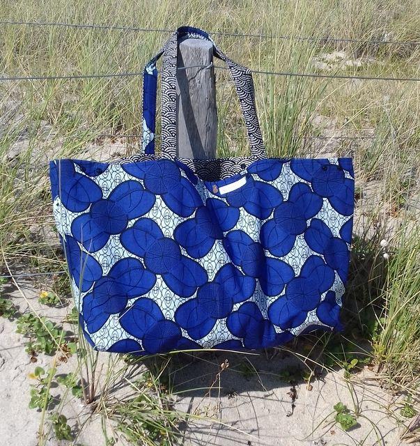 sac de plage 3filles et dufil couture sac de. Black Bedroom Furniture Sets. Home Design Ideas