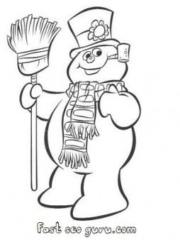 Coloring page for kids pinterest snowman for kids and kid