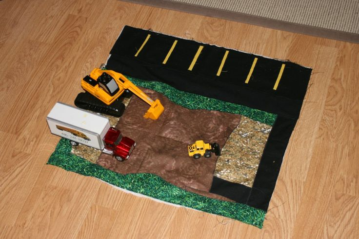 Celebrate the Boy Sewing Inspiration - OMG, it's a 3D construction playmat!