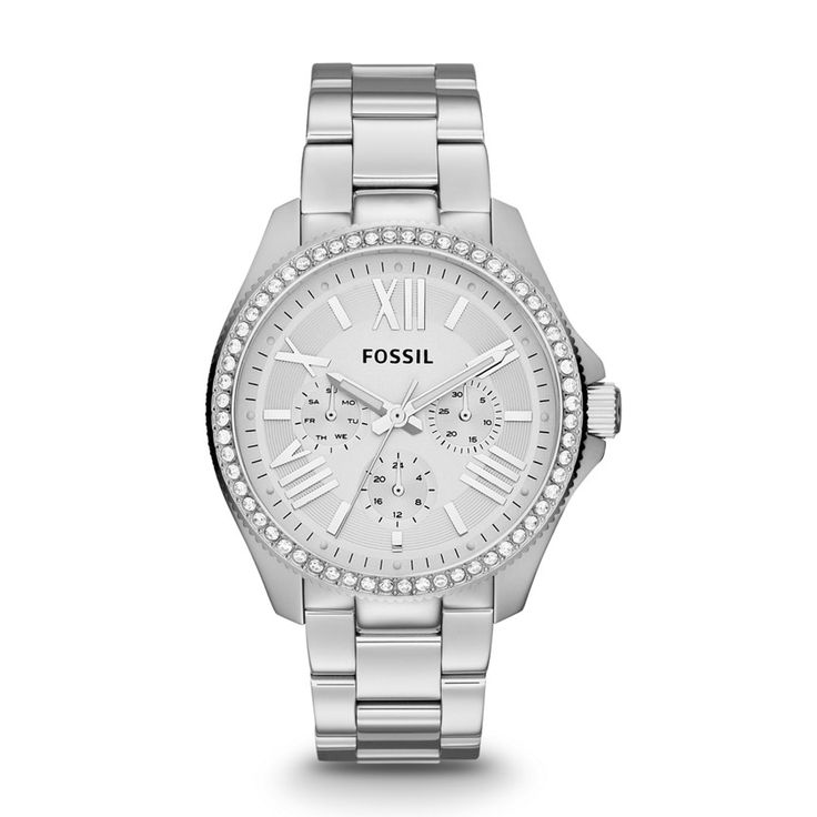 Cecile Multifunction Stainless Steel Watch AM4481 | FOSSIL® love love love!!!! Christmas from Johnsons