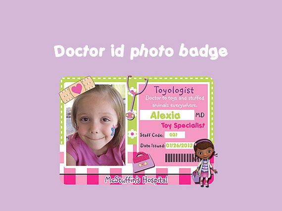 hospital id badge template - 17 best images about doll party on pinterest doc