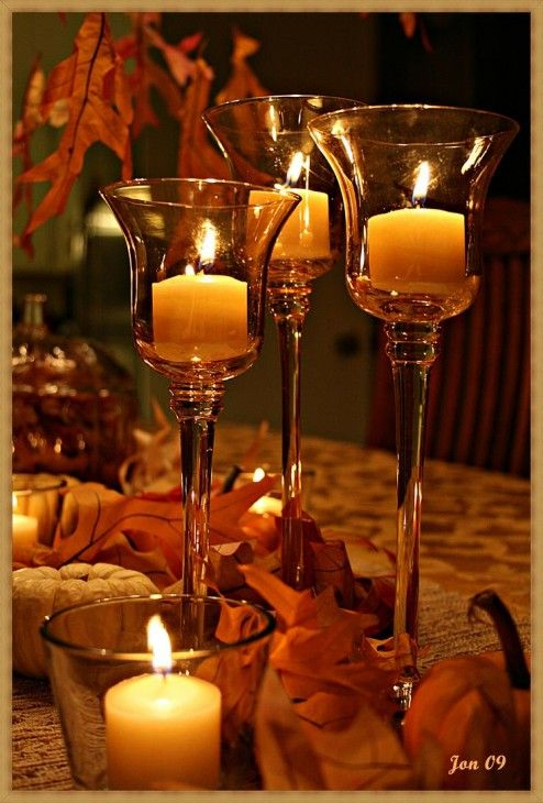 609 best celebrate fall autumn harvest thanksgiving for Thanksgiving centerpieces with candles