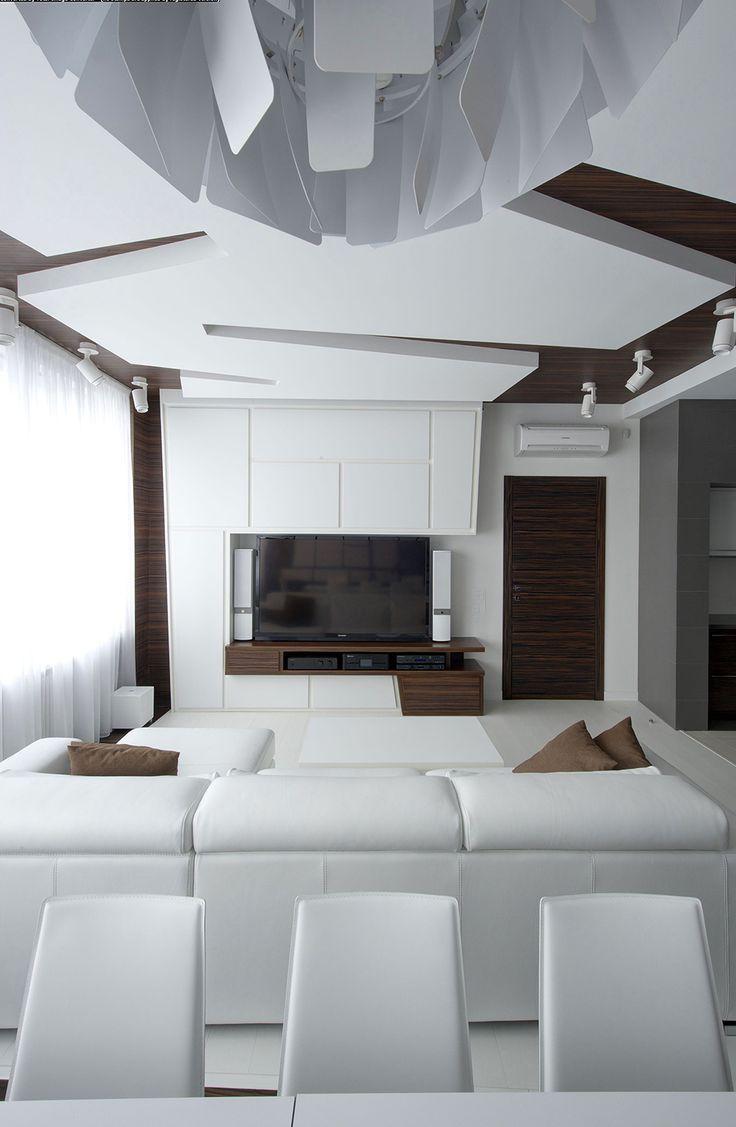 White decor Dramatic All White Renovated Apartment in Moscow by Vladimir Malashonok