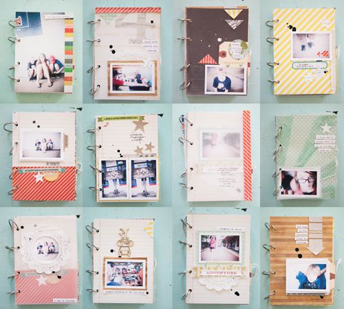 mini album by Marcy Penner - made with our GET MESSY class kit.