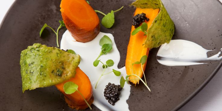 A gorgeous sous vide carrot recipe using goat's curd and sweet carrots from chef Kevin Mangeolles.