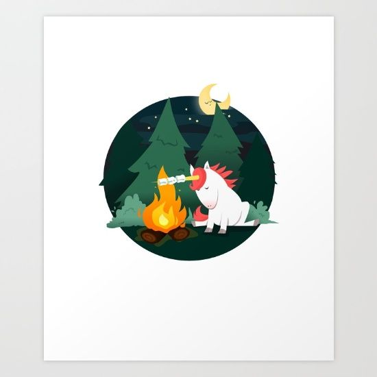 Forest of the Unicorn Art Print by Erika Biro | Society6